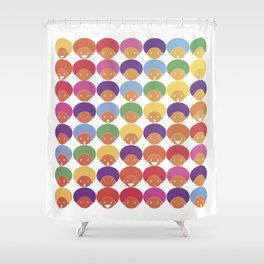 Afro Rainbows Shower Curtain