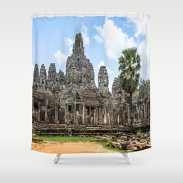 Bayon Temple, Angkor Thom, Cambodia Shower Curtain
