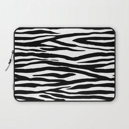 Zebra StripesPattern Black And White Laptop Sleeve