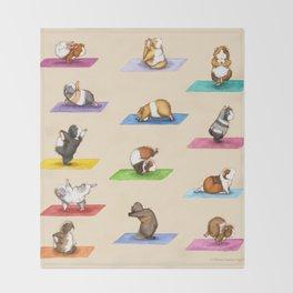 The Yoguineas - Yoga Guinea Pigs - Namast-hay! Throw Blanket