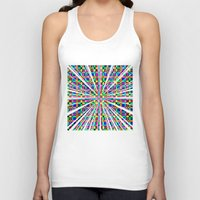 labyrinth Tank Tops featuring Labyrinth Pattern by Peter Gross
