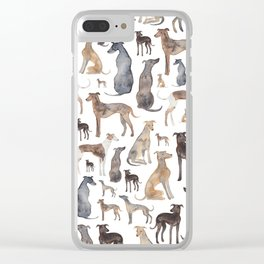 Greyhounds and Whippets Clear iPhone Case