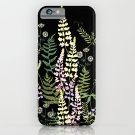 Forest flowers. iPhone Case