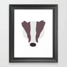 Badger nº5 Framed Art Print