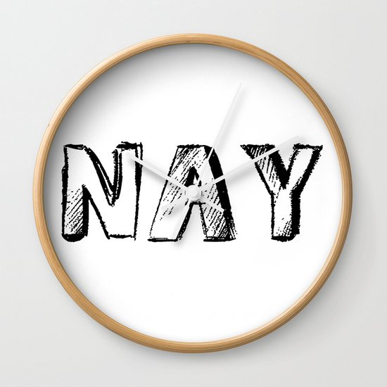 NAY Wall Clock
