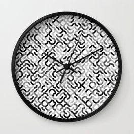 Rotated Arcs 01, Seed 7/90 Wall Clock