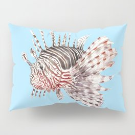 Watercolor Lionfish Tropical Fish Marine Life Painting Pillow Sham
