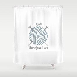 I knit Shower Curtain