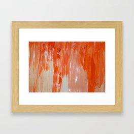 Tangerine Fondue Framed Art Print