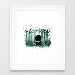 A Quiet Spot (in green) Framed Art Print