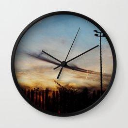 Sky Drawing (addendum) Wall Clock