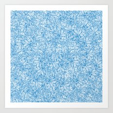 Blue Chrysanthemum Leaves Art Print
