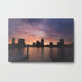 Sunset - St Pete, Florida Metal Print