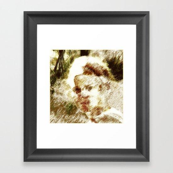 past life  Framed Art Print