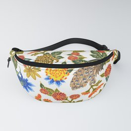 Peacock Floral Fanny Pack