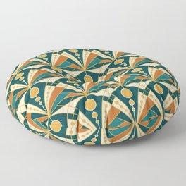 Art Deco (Green, rusty and gold) Floor Pillow