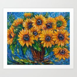 Sunflower Love by OLena Art Art Print