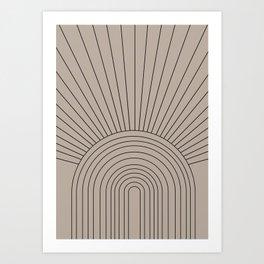 Boho Minimalistic Art Art Print