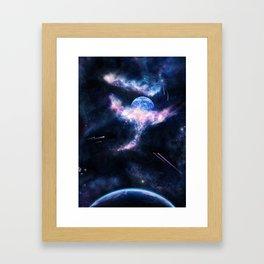 Space Scene Zero One Framed Art Print
