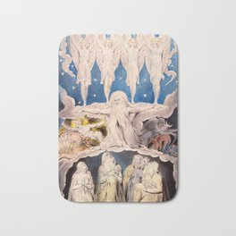 "William Blake ""When the Morning Stars Sang Together"" Bath Mat"