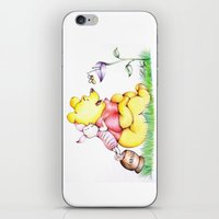 winnie the pooh iPhone & iPod Skins featuring Winnie the Pooh & Piglet by laura nye.