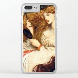 Lady Lilith , Dante Gabriel Rossetti, 1866 -1873 Clear iPhone Case