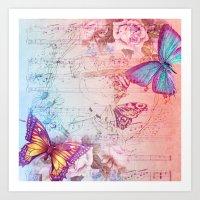 butterflies Art Prints featuring butterflies by haroulita