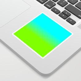 neon green, neon orange, ombre shade, color fade, neon, green, yellow, orange, ombre, shade, color, Sticker