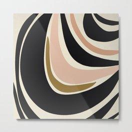 Many Moons - Abstract Art Print Metal Print
