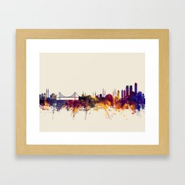 Istanbul Turkey Skyline Framed Art Print