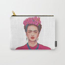Frida with Flowers Carry-All Pouch