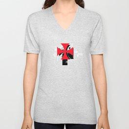 Knights Templar Symbol - Ordre du Temple - Caballeros templarios Unisex V-Neck