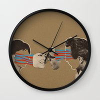 kiss Wall Clocks featuring Kiss by Canson City