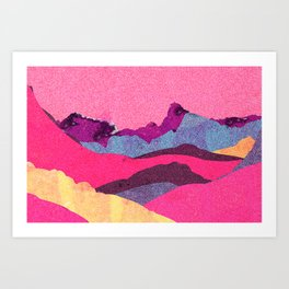 Candy Mountain Art Print