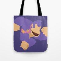 donkey kong Tote Bags featuring Donkey Kong(Smash)Purple by ejgomez