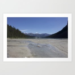Looking out over Lake Louise Art Print