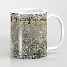 Apple Blossoms, Early Spring floral landscape painting by Gustav Klimt Coffee Mug