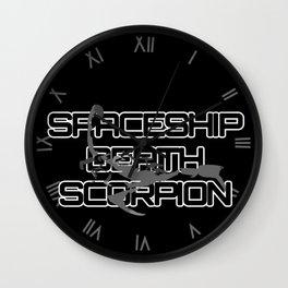 Spaceship Death Scorpion Wall Clock