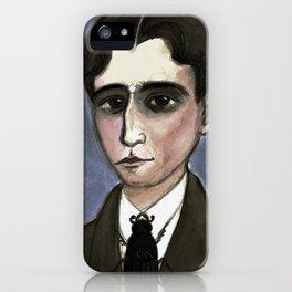 The Metamorphosis of Kafka, Literary Portrait iPhone Case