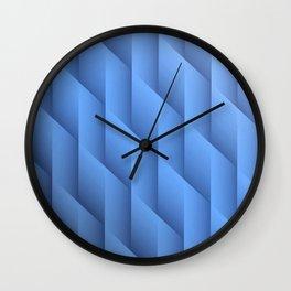 Gradient Blue Diamonds Geometric Shapes Wall Clock