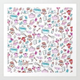 Baby's handbag Art Print