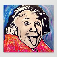 einstein Canvas Prints featuring Einstein by Paola Gonzalez