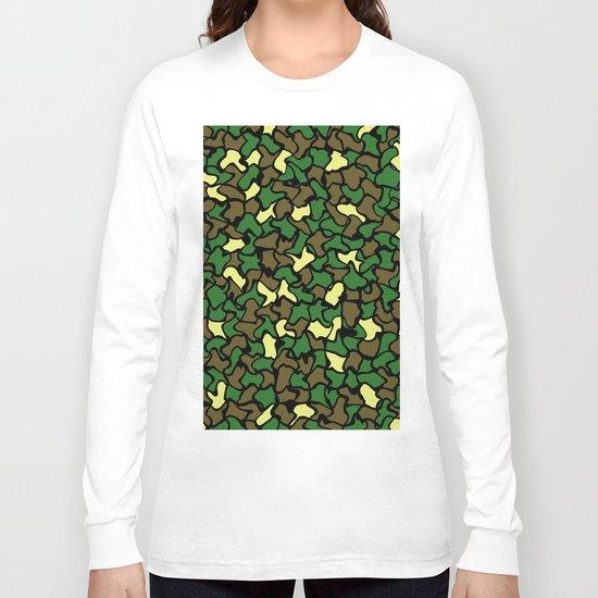 Camouflage Wobble Tile Pattern Long Sleeve T-shirt