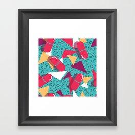 Pills Pattern 014 Framed Art Print