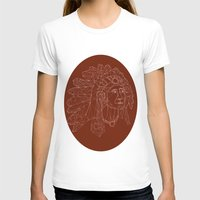 native american T-shirts featuring native american by johanna strahl