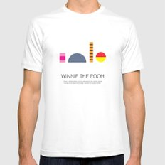 Winnie-The-Pooh Mens Fitted Tee MEDIUM White