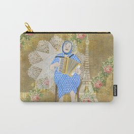 Woman Playing the Accordion Carry-All Pouch