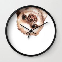 Baby Sloth Wall Clock