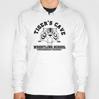 wrestling Hoodies featuring Tiger's cave wrestling school by CarloJ1956