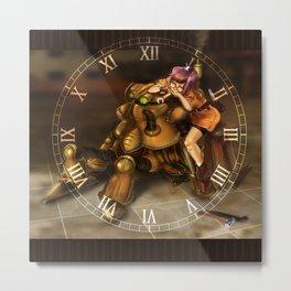 Chrono Clock Metal Print